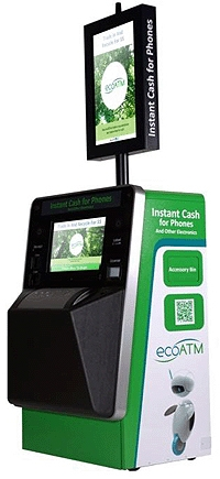 ecoATM has developed a unique, automated system that lets consumers trade in old electronic devices for reimbursement or recycling