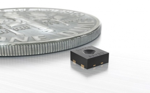 The tiny SHTC1 humidity and temperature sensor is specifically designed for mobile devices where size is a critical factor