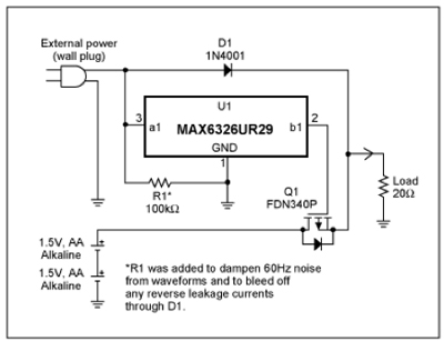 application note microprocessor supervisor provides battery rh theengineer co uk