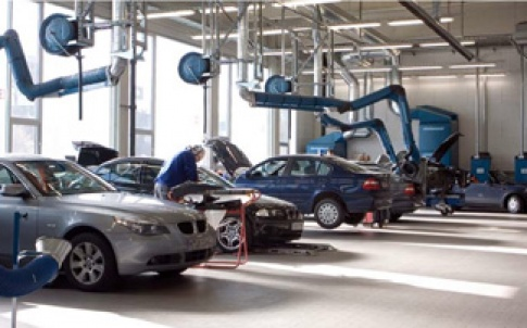 BMW workshop and service station
