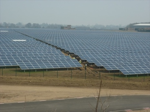 Lark energy's 34MW Wymeswold installation is currently the UK's largest solar park