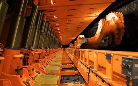 Joy Global's armoured face conveyor in operation