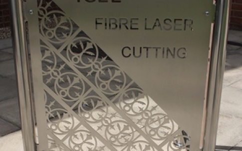 Fibre laser cut steel