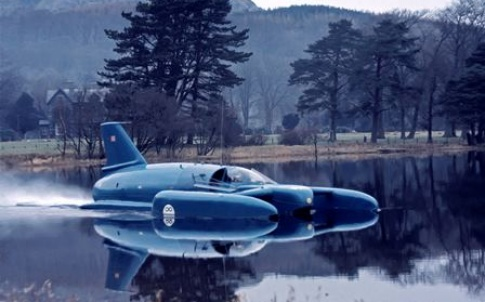 The Bluebird K7 craft crashed while trying to break the water speed record on Coniston Lake, Cumbria, on 4 January 1967