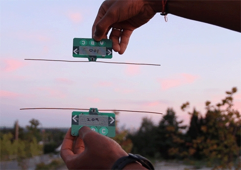 Researchers demonstrate how one payment card can transfer funds to another card by leveraging the existing wireless signals around them. Ambient RF signals are both the power source and the communication medium