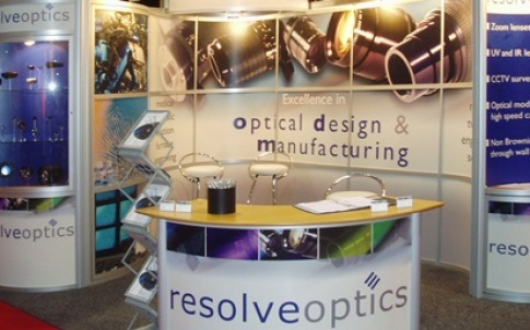 Resolve Optics' stand at the Photonex exhibition