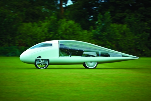 Resolution's elegant teardrop shape represents a new take on solar car design