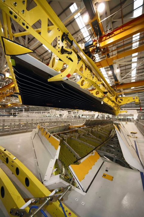 The composite wings for the Airbus A350 are built at Broughton in North Wales
