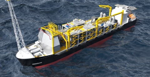 Artist's impression of the FPSO vessel that will be used for the Rosebank project
