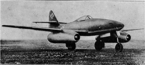 Messerschmitt's ME262A had a top speed of 525mph and was Germany's most useful wartime jet aircraft