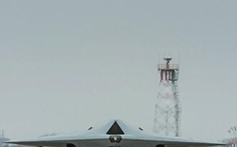 Taranis taxiing at BAE Systems, Warton, Lanacashire