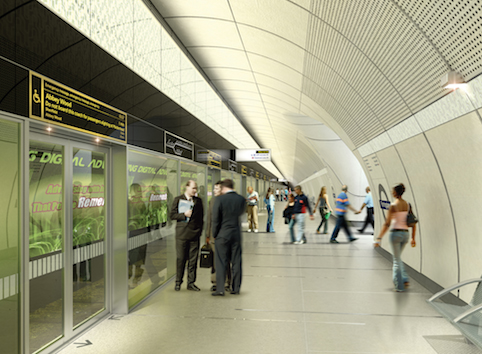 An architect's impression of what the completed platforms will look like