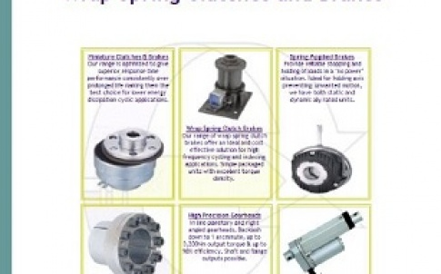 Wrap spring clutches and brakes brochure