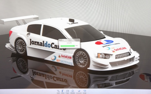 JL racing stock car with SolidCAM logo