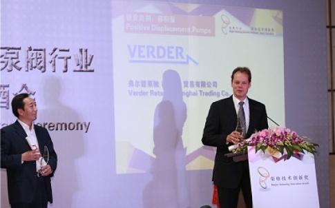 John Hoorneman, director Verder Liquids BV, received the Ringier Technology Innovation Award