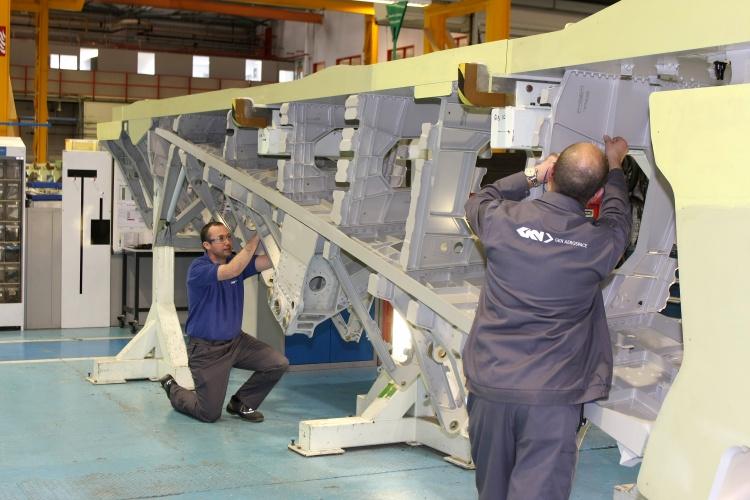Building an A380 inner spar