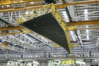 An Airbus A350 wing being assembled at the firm's Broughton plant