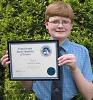 Jonathan Riska, a seventh grader from Macungie, Pa., used Minitab to help him analyse energy data for his award-winning PJAS science fair project