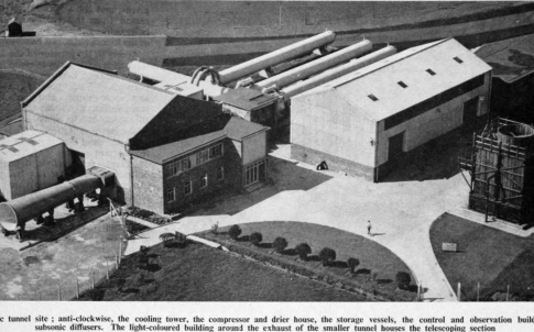 An overhead view of the facility