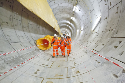 The first of Farringdon's tunnels was completed in November 2013
