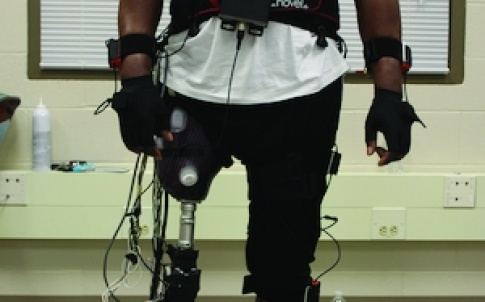 Huang's work focuses on technology that translates electrical signals in human muscle into signals that control powered prosthetic limbs
