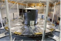 GAIA sunshield deployment test at ESA