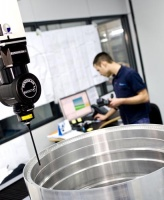 REVO scanning a large bore on an aerospace component