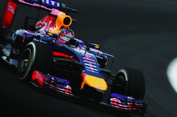 Sebastian Vettel of Germany and Infiniti Red Bull Racing drives during practice ahead of the Brazilian Formula One Grand Prix at Autodromo Jose Carlos Pace on November 7, 2014 in Sao Paulo, Brazil