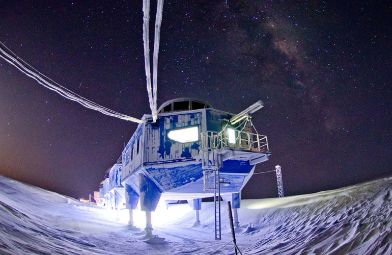 The Halley Research Station, run by the British Antarctic Survey,
