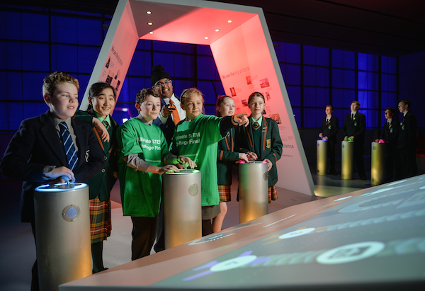 School children from across the UK gather for the final of BP's Ultimate STEM Challenge at the Science Museum in London
