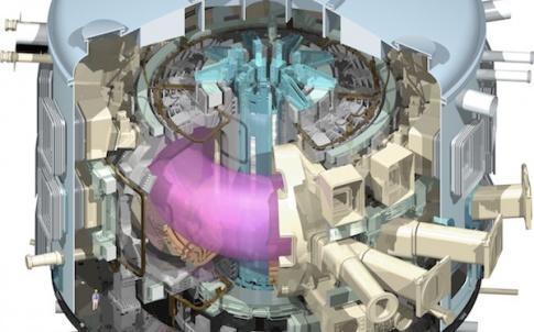 Neutral Beam injectors will be a vital component of the planned ITER fusion reactor pictured here in cutaway. They heat up plasma inside the reactor until it is hot enough for fusion to take place.