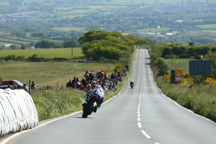 Guy Martin heads in the straight