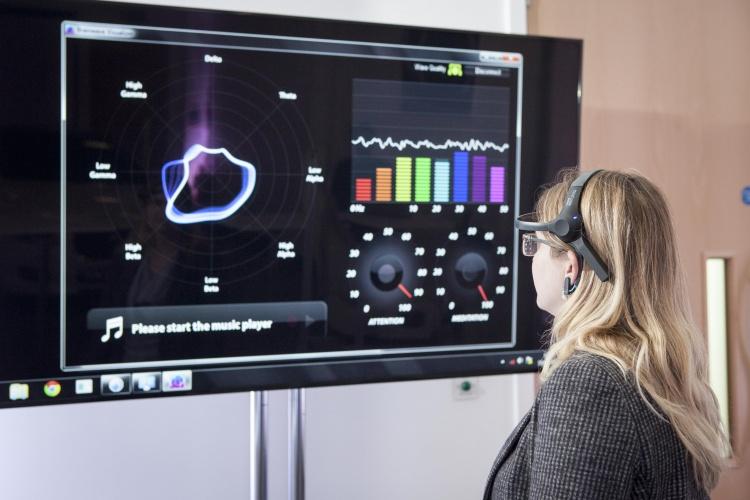 JLR is looking into monitoring driver brainwaves through the steering wheel.