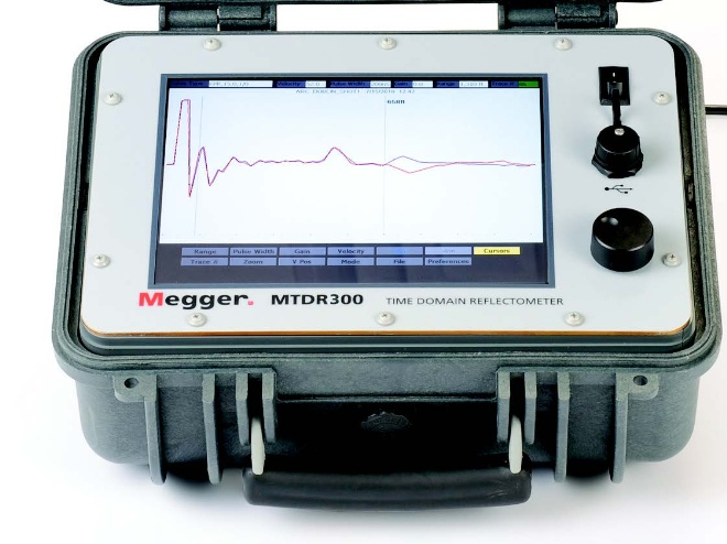 Time Domain Reflectometer : Data sheet mtdr time domain reflectometer from megger