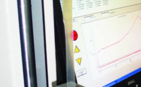 'Tensile testing on polyethylene film'