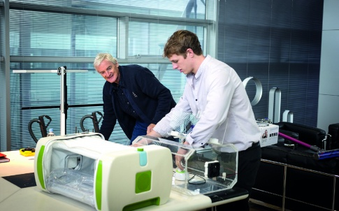 James Roberts alongside James Dyson