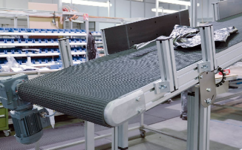 Belt conveyor with metal detector