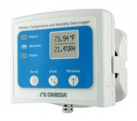 Wireless temperature and humidity data logger with display
