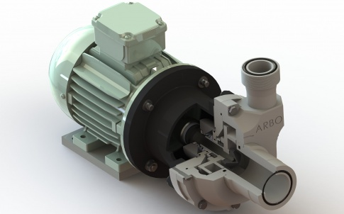 ARBO thermoplastic mechanically sealed centrifugal pumps