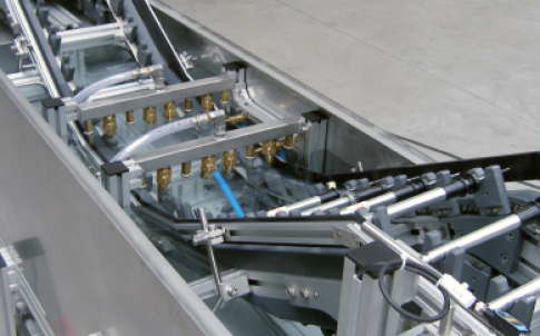Chain conveyor with immersion bath