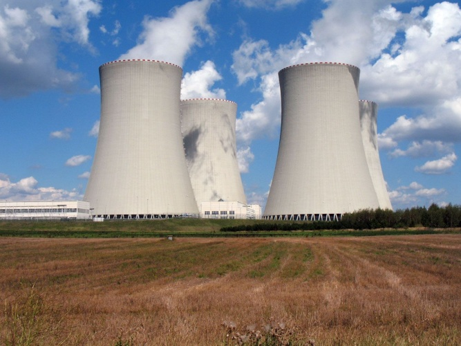 Cooling towers at a nuclear power station