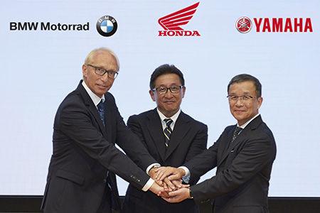 Karl Viktor Schaller  (BMW Motorrad),  Tetsuo Suzuki, (Honda), and Takaaki Kimura (Yamaha).