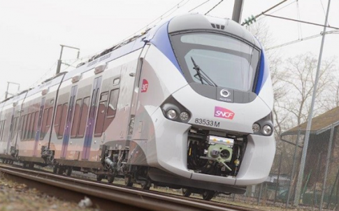 Alstom Regiolis train operated by SNCF