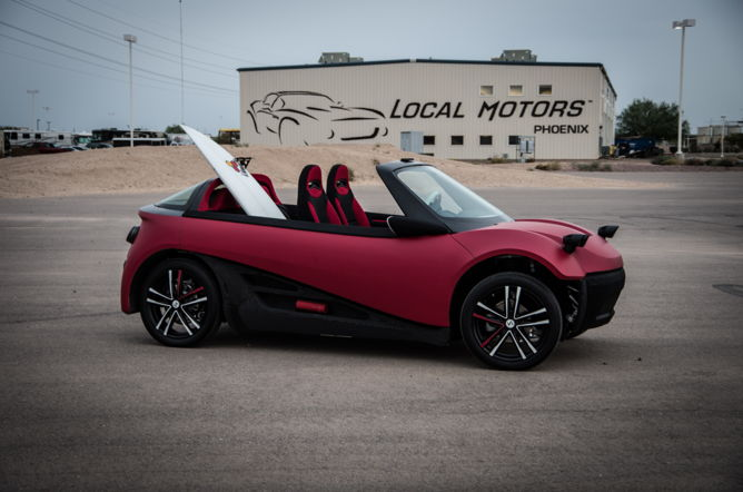 Local Motors hopes to begin manufacturing the partially 3D printed car in early 2017