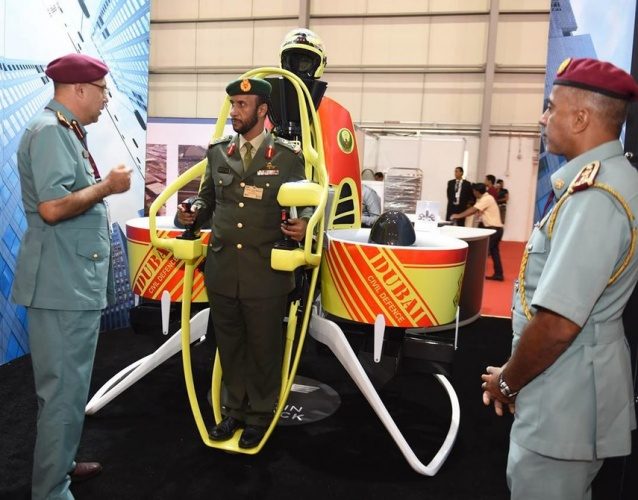 The jetpacks will be used by Dubai's Directorate of Civil Defence.