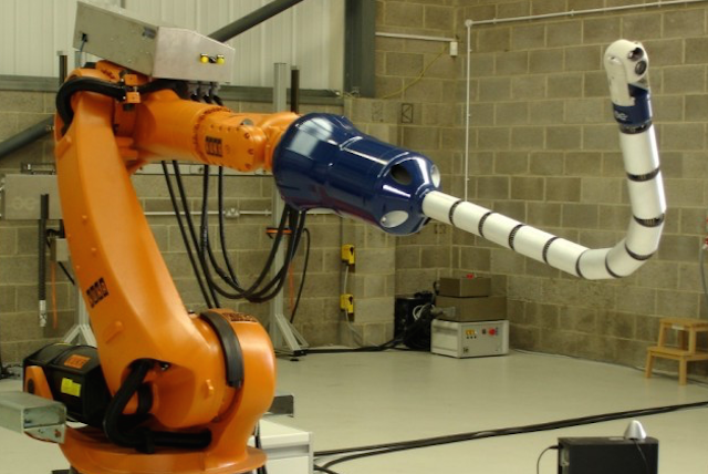 Snake arm robots are ideal for accessing hard to reach environments