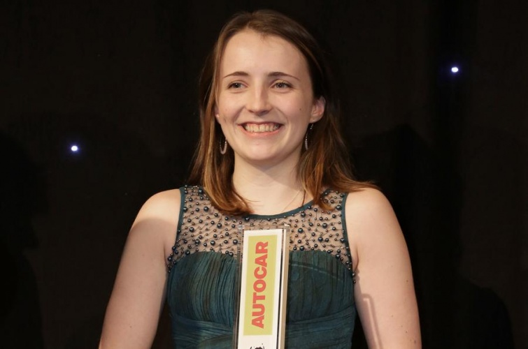 Morven Fraser was presented with the 2015 Autocar-Courland Next Generation Award for her body panel energy storage concept.