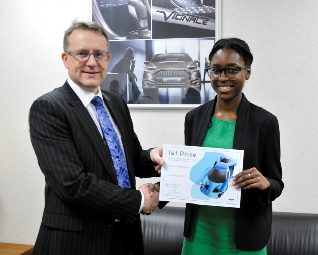Melissa Matthews with Ford's Graham Hoare