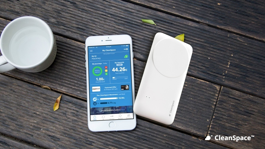 CleanSpace Tag and app (Source: Drayson Technologies)
