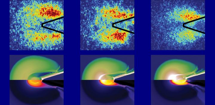 Visualisation of energy flow during fast ignition experiment (Credit: UC San Diego)